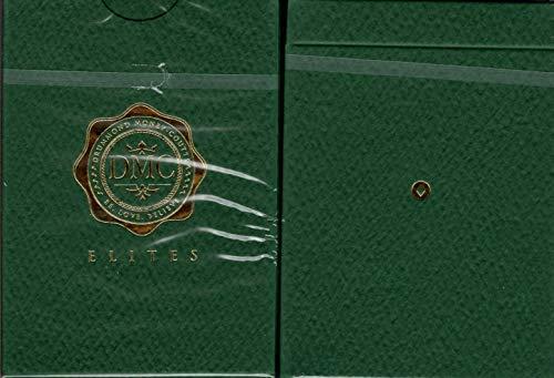DMC Elites Green Marked Playing Cards Poker Size Deck USPCC Custom - National Poker Poker Series