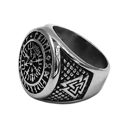 BAVAHA Wolf Arrow Ring Celtic Nudo Acero inoxidable para hombre y mujer Nordic Rune Odin Symbol Amuleto Biker Hombres Punk Titanium Steel Viking Scandinavian Ring