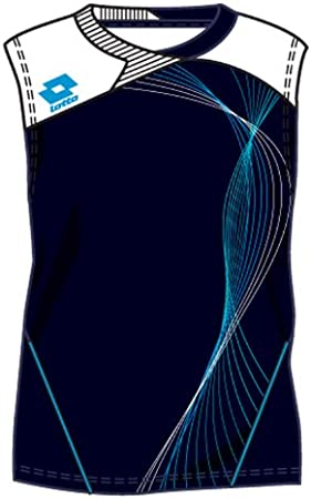 Lotto Camiseta Sl Fluid, hombre, color azul y blanco
