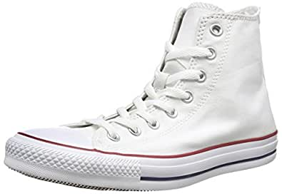 Converse Unisex Chuck Taylor All Star High Top Sneakers Optical White (10 D(M), Optical White)
