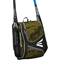 EASTON E110YBP Youth Bat & Equipment Backpack Bag, 2021, Baseball Softball, 2 Bat Sleeves, Smart Gear Storage, Valuables…