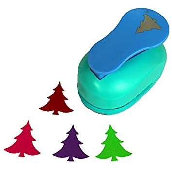 amazon co jp cady 2 inch design christmas tree paper punch for