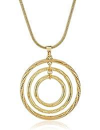 "Gold-Tone Circle Pendant Necklace, 16"" + 3.5"" Extender"