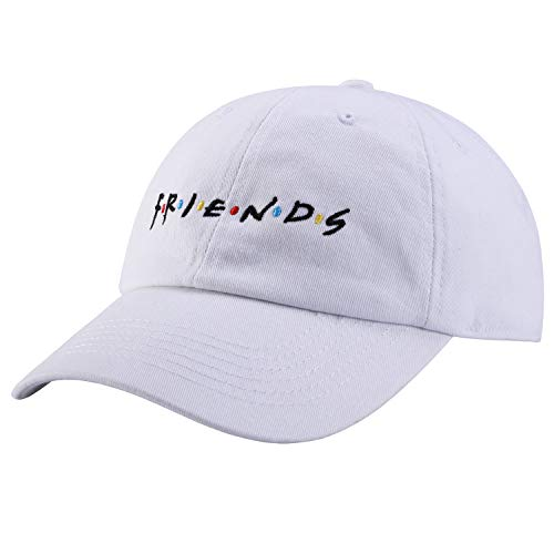 Best Friend White Hat - liujiangtao Dad Hat Finesse Friends Letters Embroidered Baseball Cap Adjustable Strapback Unisex White