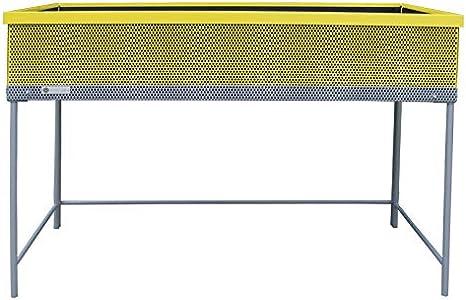 Huerto urbano de metal Green Passion 120x57x80 cm.Color amarillo ...