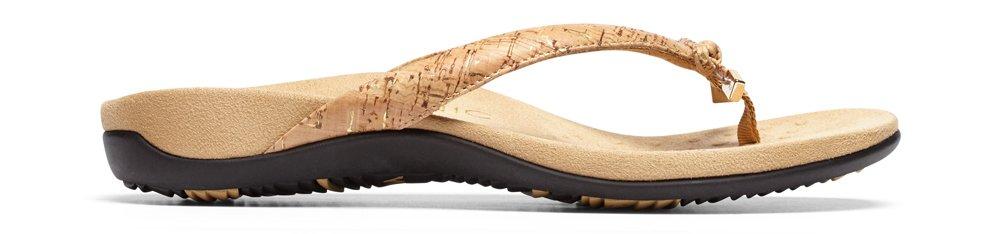 Vionic Women's Rest BellaII Toepost Sandal B01HOVZ444 6 W US|Gold Cork
