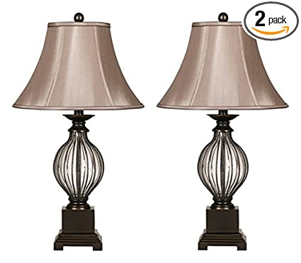Ashley furniture signature design ondreya table lamp traditional set of 2 bronze
