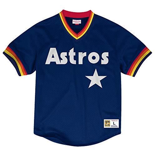 Mitchell & Ness Houston Astros MLB Men's Dinger Mesh Jersey Shirt