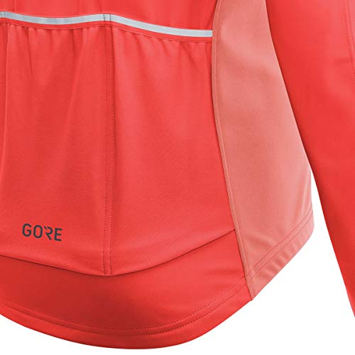 GORE Wear Women's Windproof Cycling Jacket, Removable Sleeves, GORE Wear C3 Women's GORE Wear WINDSTOPPER Phantom Zip-Off Jacket, Size: XL, Color: Lumi Orange/Coral Glow, 100191 by GORE WEAR (Image #4)