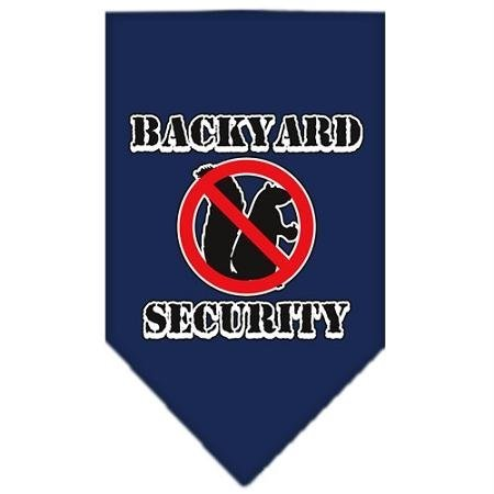 Mirage Pet Products Backyard Security Screen Print Bandana for Pets, Small, Navy Blue (Bandana Screen Print)