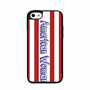 American Woman Plastic Phone Case Back Cover iPhone 5 5s comes with Security Tag and MyPhone Designs(TM) Cleaning Cloth