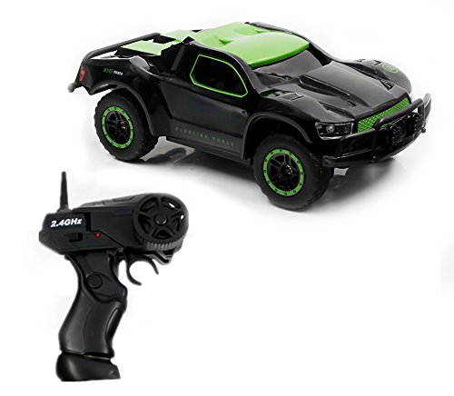 CSFLY Rc Car 2.4Ghz 1:43 Mini Scale Remote Control Electric Racing Car with High Speed and Rechargeable Bttrey for Indoors-Green