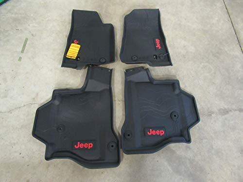 Mopar Jeep Gladiator Front & Rear Complete Set of 4 Rubber Floor Mats OEM ()