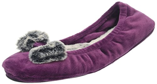 Chaussons Frosted Bas Ballerina Dearfoams Aubergine 00765 Violet Femme Velour Pile W xtXBwU
