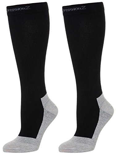 Performance One Compression Socks - Compression Socks 30-40mmHg (1 Pair - Black L) - Best High Performance Athletic Running Socks - Men & Women