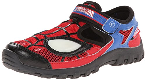 Stride Rite Spider-Man Light-Up Sandal (Toddler/Little Kid),Red/Blue,6 M US (Spider Man Spring)