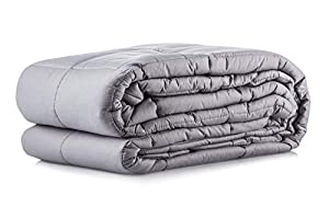 Cooshi Weighted Blanket Queen and Twin Size - Grey - Use Gravity to Sleep Better with Glass Beads - - Ideal for Autism, Stress and Anxiety Relief from Cooshi