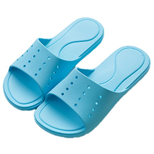 TELLW Bathroom Slippers for Male Female Summer Home Indoor Anti-Slip Thick Bottom Cool Slippers Women Blue 1XeTs4b5