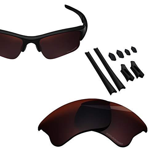 BlazerBuck Anti-salt Polarized Replacement Lenses for Oakley Flak Jacket XLJ - Amber