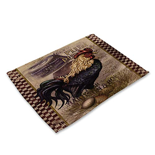 42X32cm Cloth Table Napkins Creative Animal Retro Cock Printed Table Napkin for Wedding Set Bowl Dining Mats Kids Table Set Home Decoration by RXIN