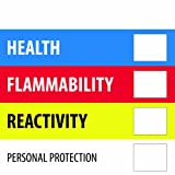 Tape Logic DL1286 Instructions Label, Legend''Health Flammability Reactivity'', 4'' Length x 4'' Width, Blue/Red/Yellow (Roll of 500)