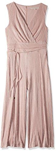 Foil Jumpsuit - RACHEL Rachel Roy Women's Ambra Jumpsuit, Blush with Silver foil, 14