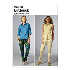 Butterick Patterns B6028B50 Misses' Pants Sewing Template, Size B5 (8-10-12-14-16) by Butterick Patterns