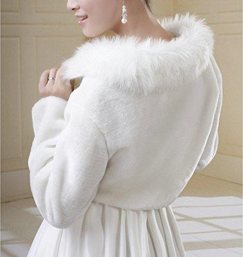 Manteau chales de et Veste de Mariage Longues marie soire Ivoire Wraps S Robes de Fausse SwirlColor Manches Mariage marie XS pour Couleur de Fourrure x7vzqPZq