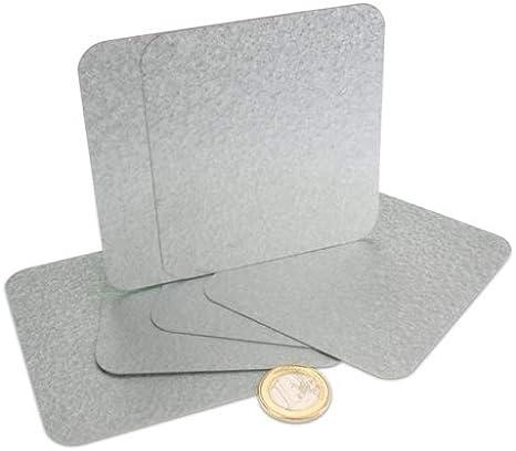 Haftgrund f/ür Magnete Metallplatte verzinkt mit abgerundeten Ecken verschiedene Abmessungen Gr/ö/ße 95 x 85 mm