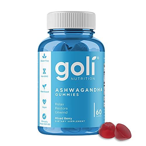 ASHWA Vitamin Gummy by Goli Nutrition – Ashwagandha Gummies – Relax. Restore. Unwind. (Mixed Berry, KSM-66, Vegan, Plant…
