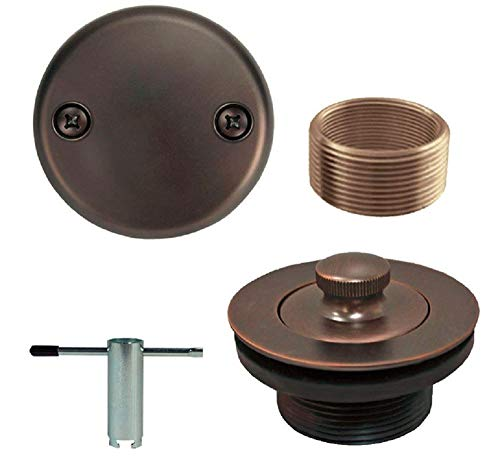 Oil Rubbed Bronze Conversion Bathtub Tub Drain Assembly Kit + Free Removal Tool