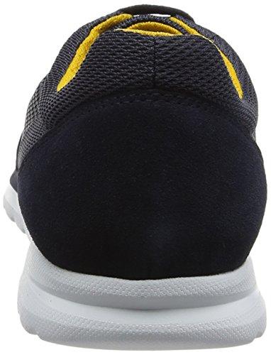 Geox Men's U Damian B Low-Top Sneakers, Grey, 9 M US Navy