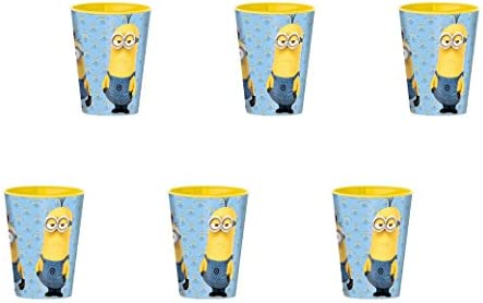 Minions, 0342, Pack de 6 vasos de plástico reutilizables ...
