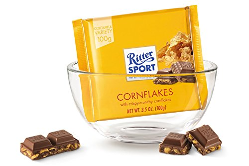 Ritter Sport Crisp and Flakes Chocolate Bar-Pack of 3
