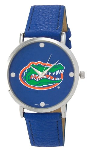 FLORIDA GATORS LADIES WATCH W/ VINYL BAND-UNIVERSITY OF FLORIDA LADIES WATCH