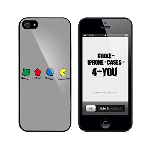 Iphone 5 / 5S Schutzhülle Omnomnom - schwarzer Rahmen