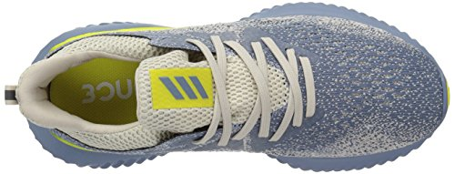 adidas Men's Alphabounce Beyond Running Shoe, Steel/raw Grey/Shock Yellow, 7 M US by adidas (Image #7)