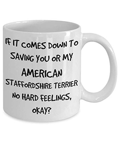 Funny American Staffordshire Terrier Mug - White 11oz 15oz Ceramic Tea Coffee Cup - Perfect For Travel And Gifts 2