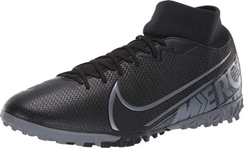 Nike Mercurial Superfly 7 Academy TF Artificial-Turf Soccer Shoe (11, Black) (Football Mercurial Shoes Nike)