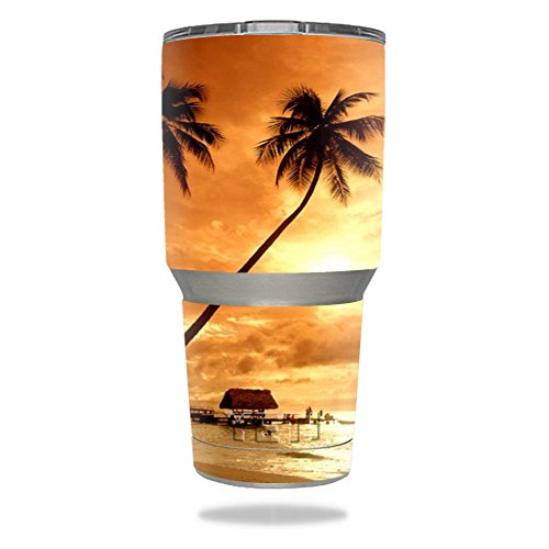 MightySkins Skin for Yeti 30 oz Tumbler - Sunset | Protective, Durable, and Unique Vinyl Decal wrap Cover | Easy to Apply, Remove, and Change Styles | Made in The USA from MightySkins