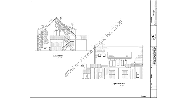 Home Plans The Cotswold Timber Frame Design Proof Amazon Com