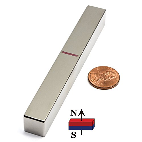 CMS Magnetics N45 Neodymium NdFeB Rare Earth Magnets, 4×1/2×1/2-Inch