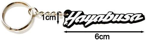 SUZUKI GSXR 1300 HAYABUSA KEYCHAIN KEY RING FOB DECAL MOTORCYCLE Krator HBK905 Logo Engraved Plates