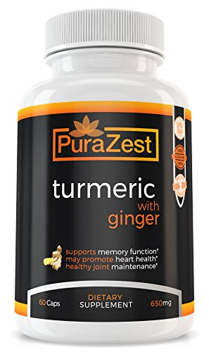 Turmeric Curcumin with Ginger for Joint & Arthritis Pain Relief, Anti-Inflammatory, Cardiovascular Health - with BioPerine for Optimal Absorption (30 Day Supply)