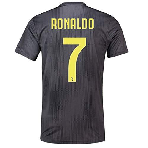 72531d68d8e SALLARM Juventus Away  7 C Ronaldo 2018-2019 Soccer Jersey Mens Black (M)