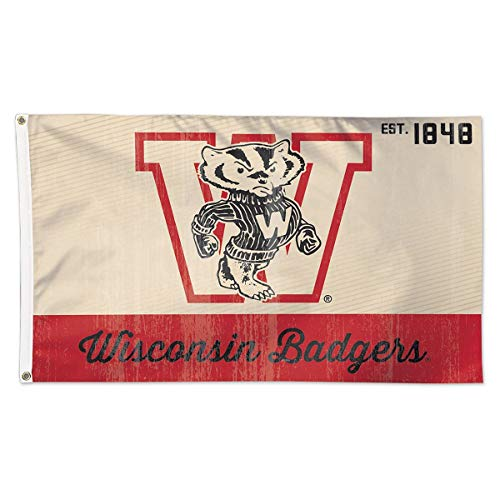 Wisconsin Badgers Vintage Creme Flag 3′ x 5′ Review