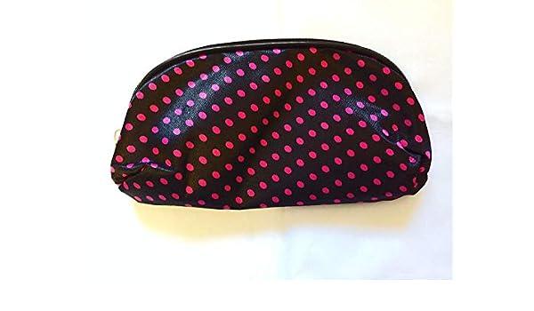 Pequeño Negro con Rosa Topos de Topos Lunares Estuche Neceser para Maquillaje Material Escolar: Amazon.es: Oficina y papelería