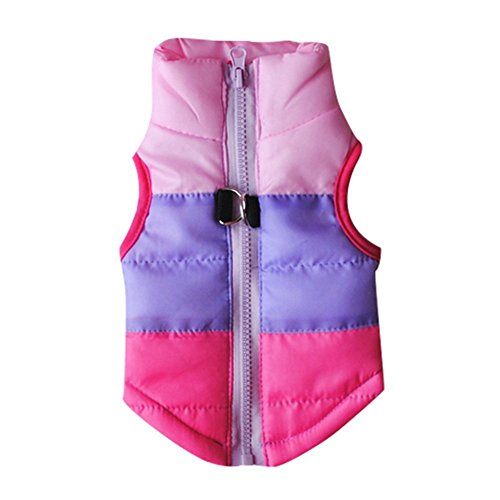 Pet Windproof Winter Jacket Rosy Warm and Down Waterproof Zekaer Clothes TWxUvSwBB7