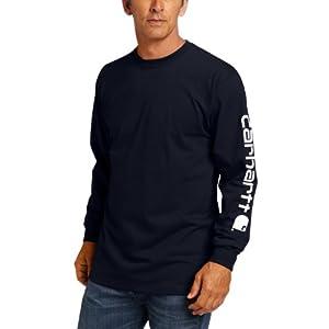 Best Epic Trends 413RaLGvmpL._SS300_ Carhartt Men's Big & Tall Signature-Sleeve Logo Long-Sleeve T-Shirt