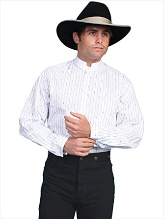 Rw157x-Wht Scully Rangewear Mens Rangewear Pinkerton Stripe Shirt Big and Tall